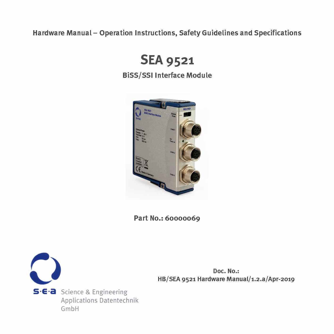 SEA 9521 BiSS-C/SSI Encoder Interface Module - Kit