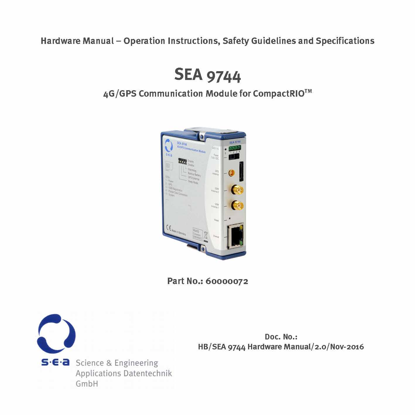 SEA 9744 4G Mobile Communication Module - Kit